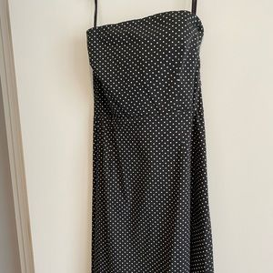 New York & Company stretch A-Line Polka Dot Dress